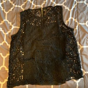 Black lace dressy tank top